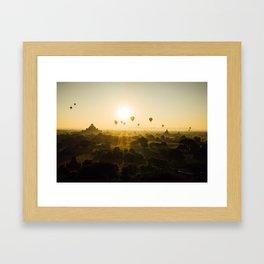 Balloon Race Across Myanmar Framed Art Print