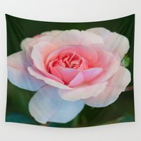 moriarty Wall Tapestries featuring Pink Rose by Michael P. Moriarty