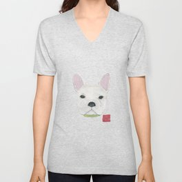 French Bulldog, FRENCHIE, Dog Unisex V-Neck