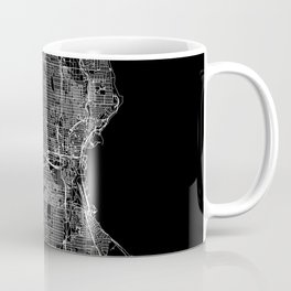 Milwaukee Black Map Coffee Mug