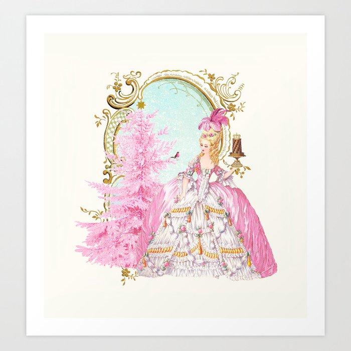 Marie Antoinette Christmas Art Print