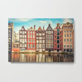 Amsterdam House Love Metal Print