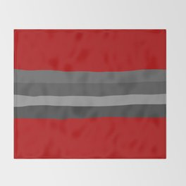 Abstract Grey Lines Throw Blanket