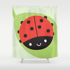 Kawaii Ladybird Shower Curtain