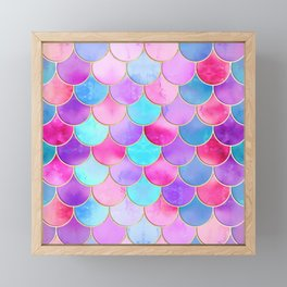 Candy Festival Mermaid Scale Pattern Framed Mini Art Print