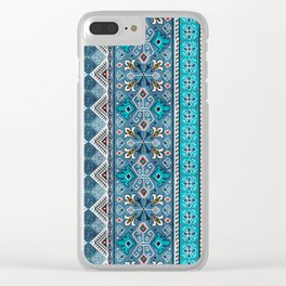 Grand Bazaar - Blue Clear iPhone Case