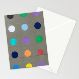 Colored dot Stationery Cards
