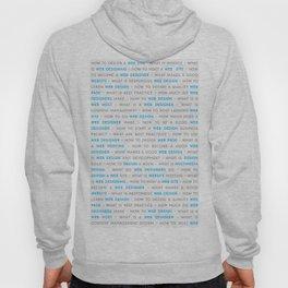 Blue Web Design Keywords Poster Concept Hoody