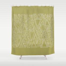 Screw You Ruler Said Triangle Shower Curtain