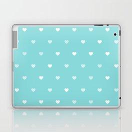 Baby Blue Heart Pattern Laptop & iPad Skin