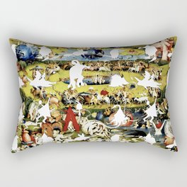 Bosch Creatures/Garden of Earthly Delights I Rectangular Pillow