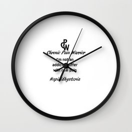Chronic Pain Wall Clock
