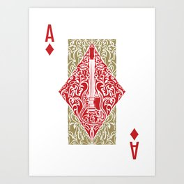 Resonate Bridge | Ace of Diamonds Art Print