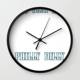 Philly Dilly Ring that Bell Liberty Bell Crack Wall Clock