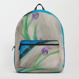 Equine Floral Oil Painting Backpack