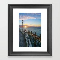 Sun Rise At Worthing Framed Art Print