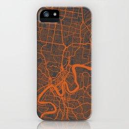 Brisbane Map iPhone Case