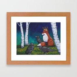 The Fox King Framed Art Print
