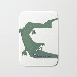 Snapping vintage Alligator Bath Mat