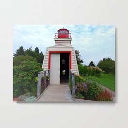 Lighthouse Shed Metal Print