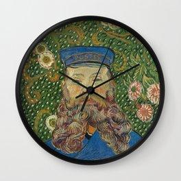 Van Gogh Postman- Portrait of Joseph Roulin Wall Clock
