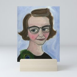 "Flannery O'Connor Art Print, Literary Portrait (6x8) ""A Good Flannery is Hard to Find"" Mini Art Print"