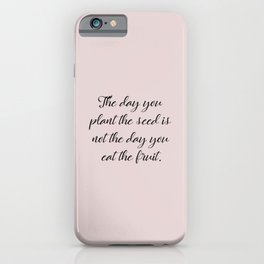 Plant The Seed iPhone Case