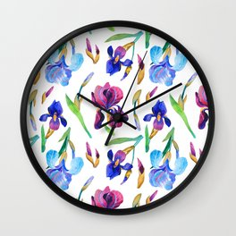 Irises Wall Clock