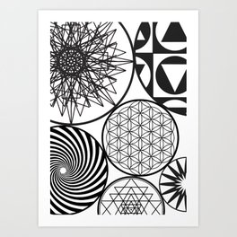 NAKED GEOMETRY no 9 Art Print