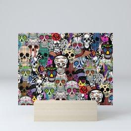 Halloween skulls Mini Art Print