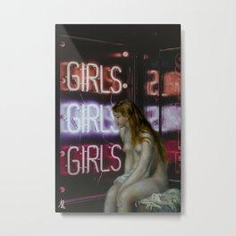 Neon Renoir Metal Print