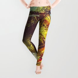 Fractured Time Leggings