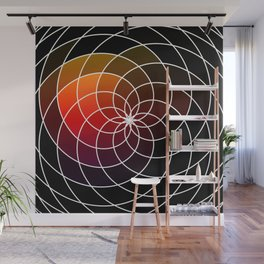 Dark Kaleidoscope Wall Mural