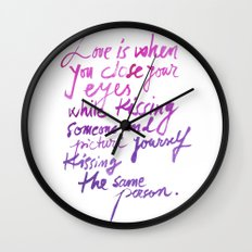 Love quotes Wall Clock