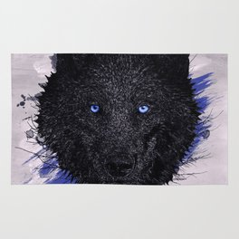 The Paint & The Wolf Rug