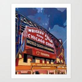 Wrigley Field Art Print