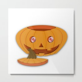 Halloween Pumpkin Metal Print