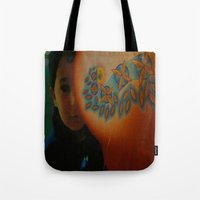child Tote Bags featuring Child by Nicholas Bremner - Autotelic Art