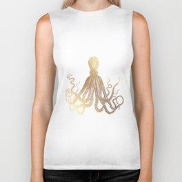 Gold Octopus  Biker Tank
