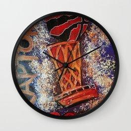 raptors 3,champion,basketball,gold,poster,wall art,2019,winners,NBA,finals,toronto,canada,painting Wall Clock