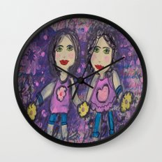 Two of Me Wall Clock