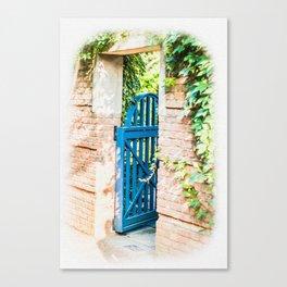 BLUE GARDEN GATE Canvas Print