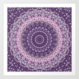 Purple Lace Mandala Art Print