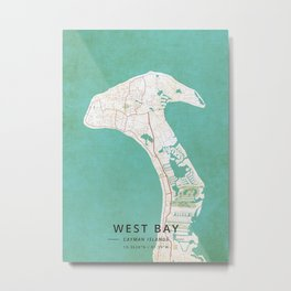 West Bay Cayman Islands Metal Print