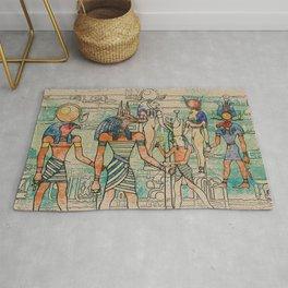 Egyptian Gods on canvas Rug