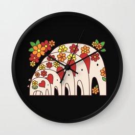 Matrioshka Elephants Wall Clock
