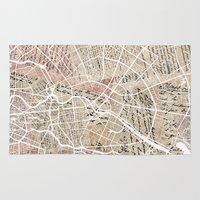 berlin Area & Throw Rugs featuring Berlin by Mapsland