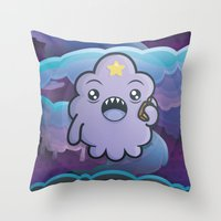 lumpy space princess Throw Pillows featuring Kawaii Lumpy Space by Squid&Pig