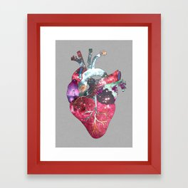 Superstar Heart (on grey) Framed Art Print
