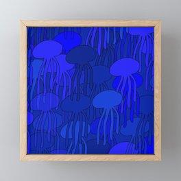 Jellyfish Blue Framed Mini Art Print
